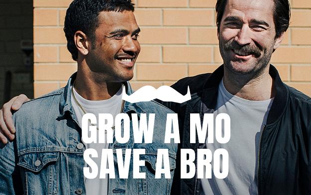 movember grow a mo save a bro campaign