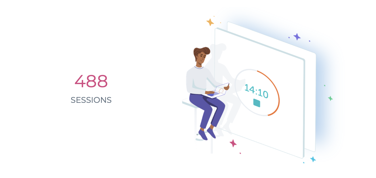 focus booster year in review email total sessions completed for 2020