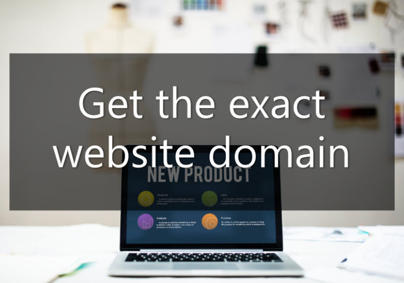 changing your business name - get the exact website domain