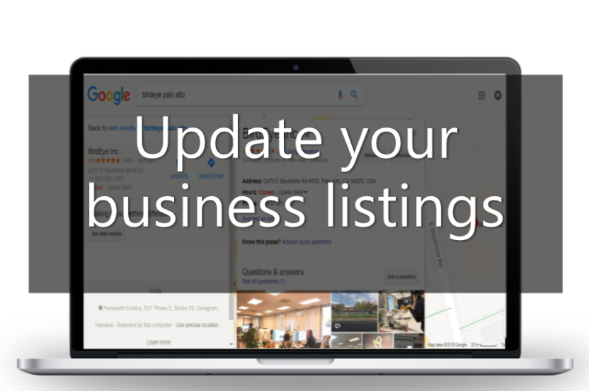 changing your business name - update your business listings