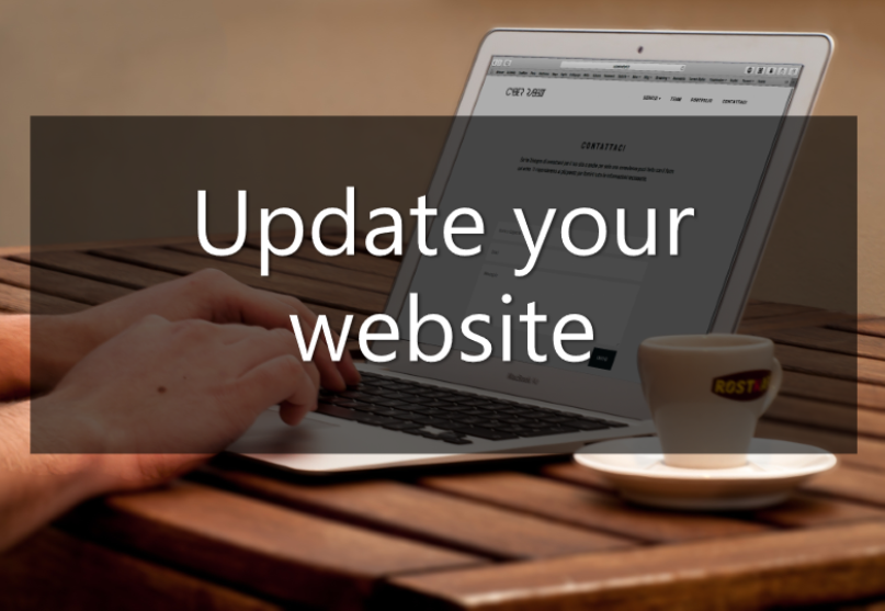 changing your business name - update your website
