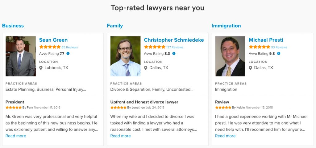 Review Sites for Lawyers