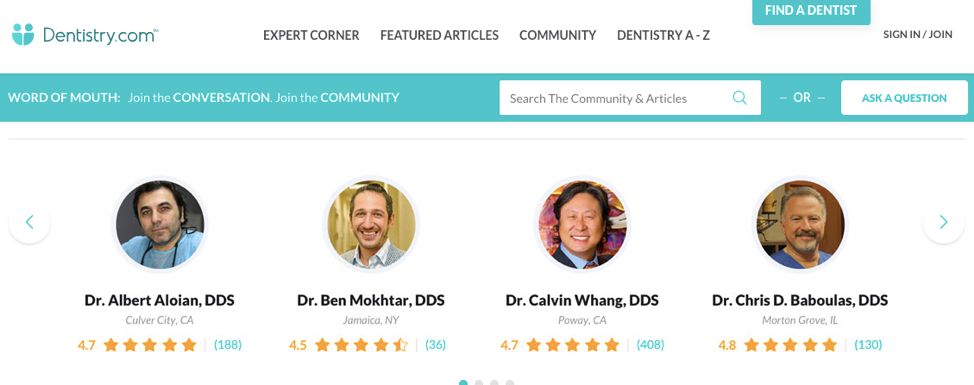 top review sites for dentists