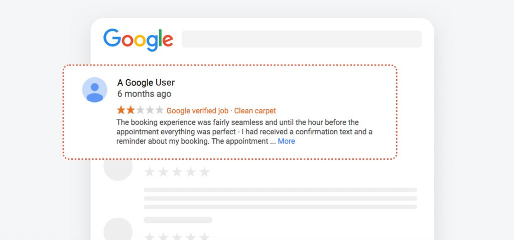 Google user anonymous review