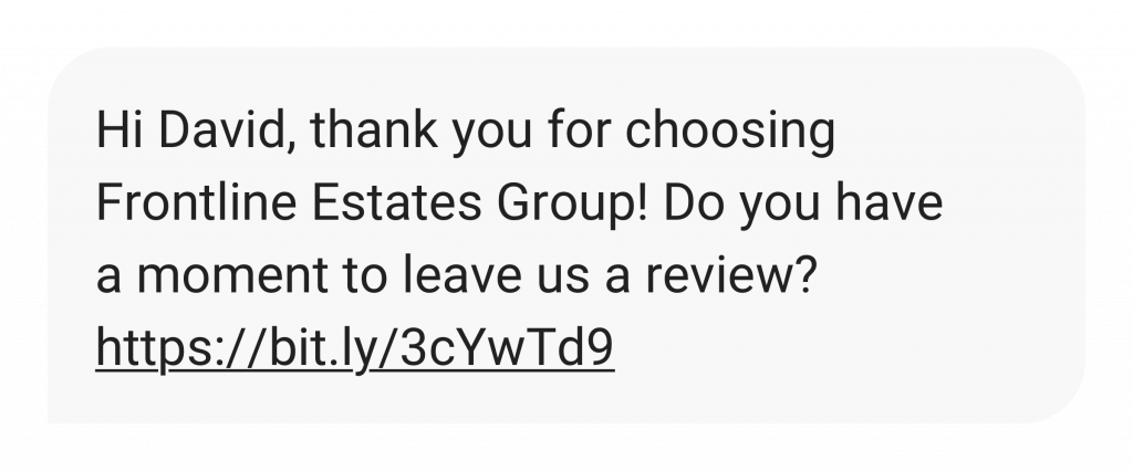 text message review request