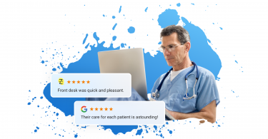Review automation for healthcare providers
