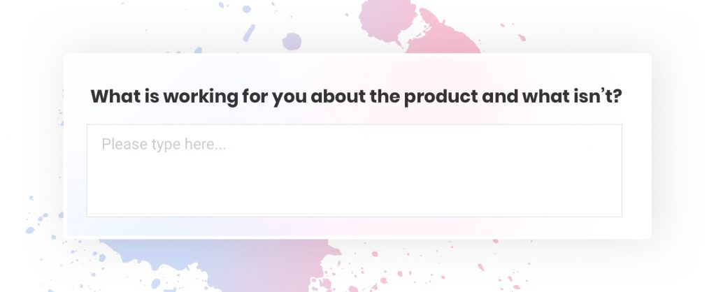 Product survey question examples