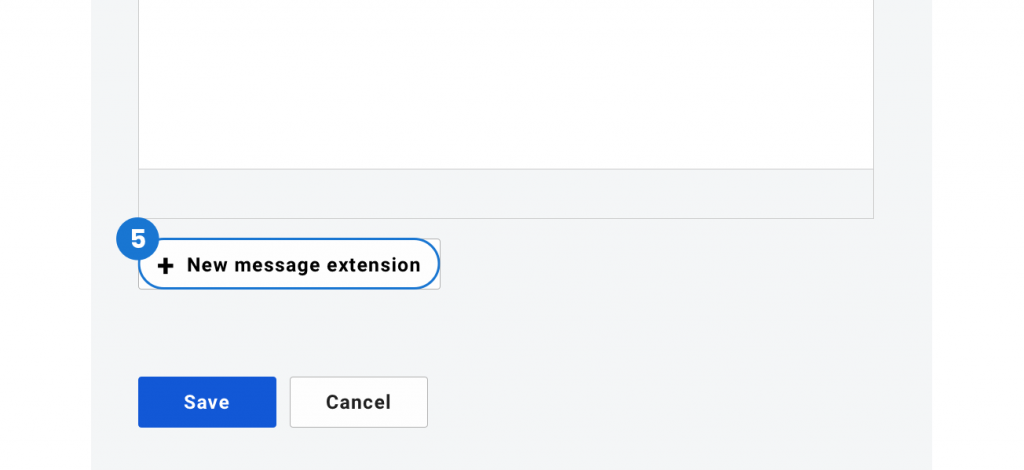 new message extension