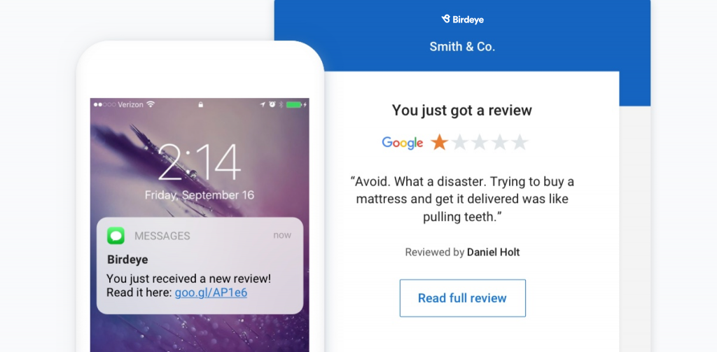 review notification