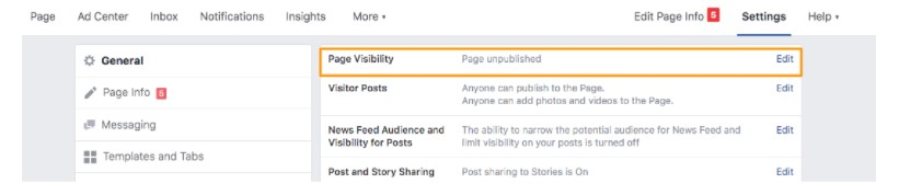 Delete Facebook business page Step 2