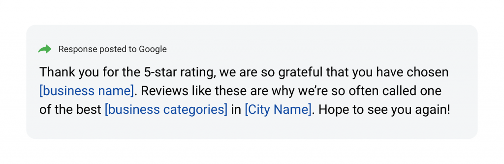 positive review response 2