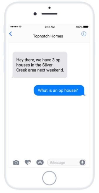 Text Service for real estate agents