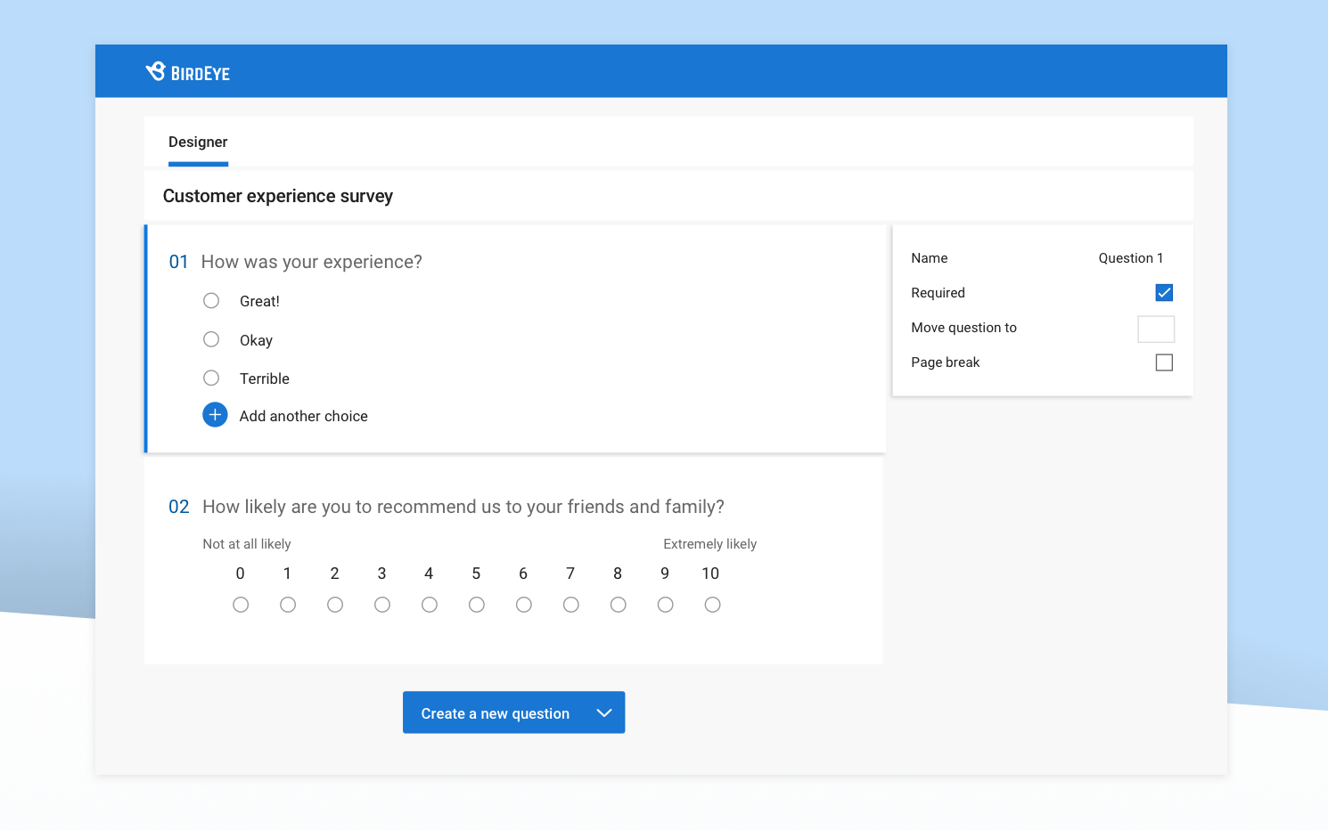 sample customer survey questions
