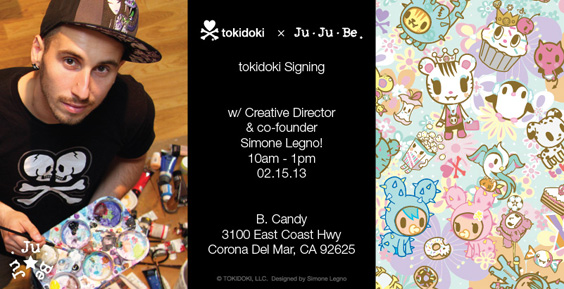 tokidoki x jujube Simone Legno Signing Event
