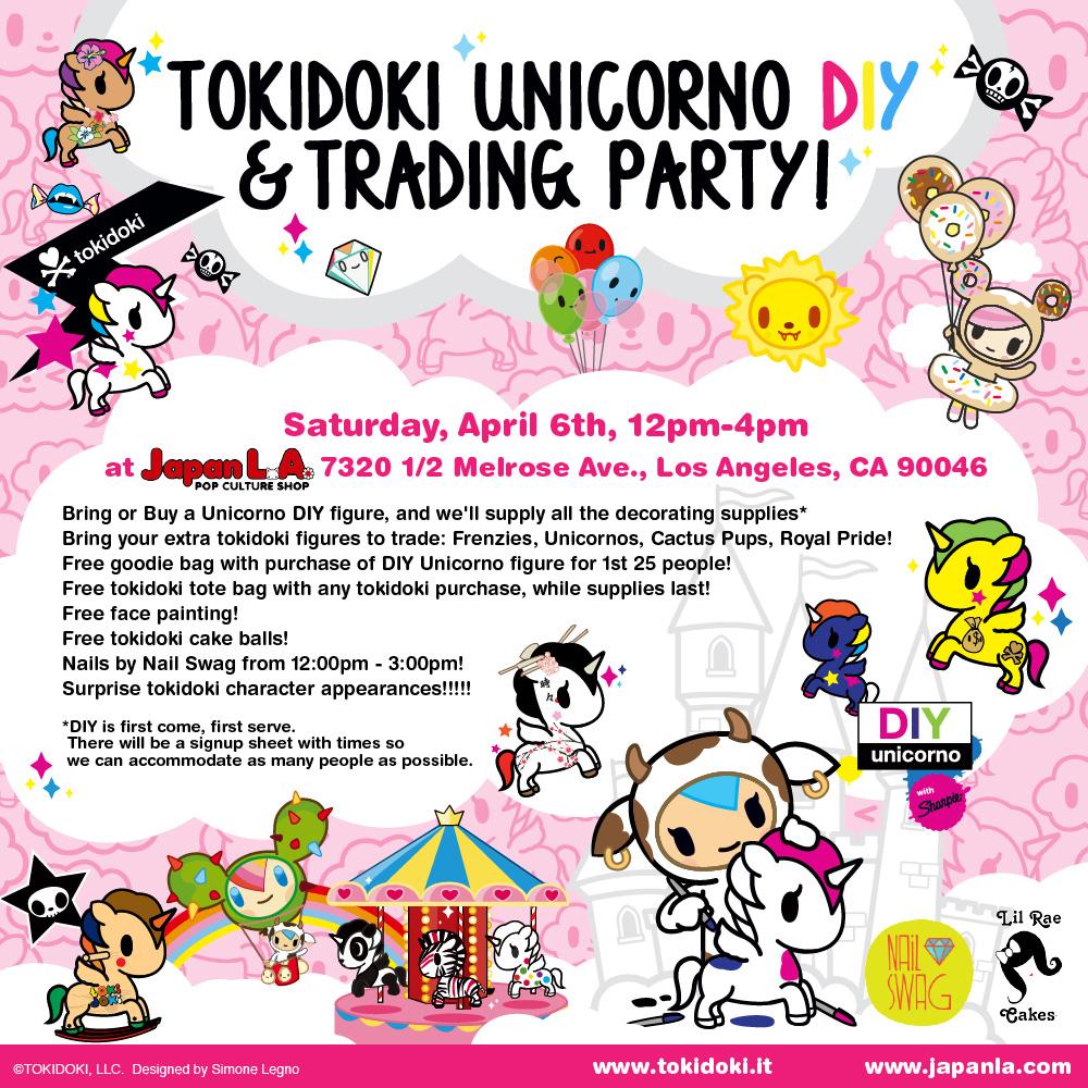 tokidoki Unicorno DIY & Trading Party at JapanLA