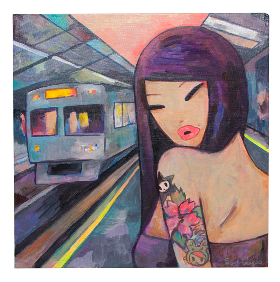 Last Train Home by Simone Legno Painting