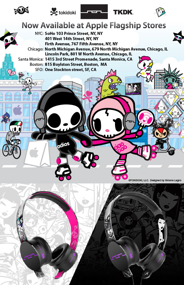 tokidoki x SOL REPUBLIC Tracks HD Headphones are now available at Apple Flagship Stores!