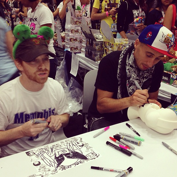 Thanks to Seth Green, Matt and their Stoopid Monkey for being special guests and signing with me at the ??tokidoki? booth!
