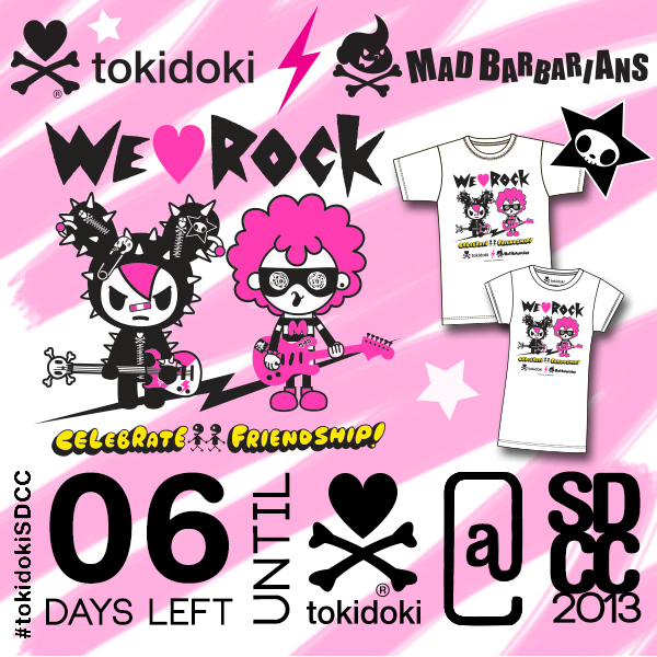 SDCC 2013 tokidoki x Mad Barbarians