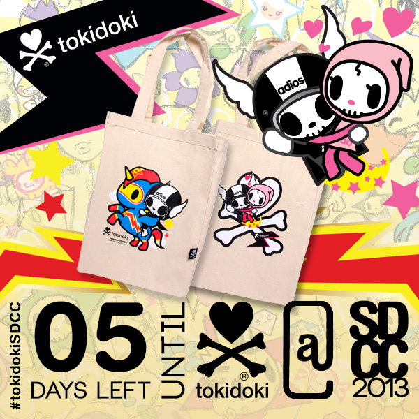 tokidoki Tote Bag Featuring Super Adios, Ciao Ciao and Comic-Corno