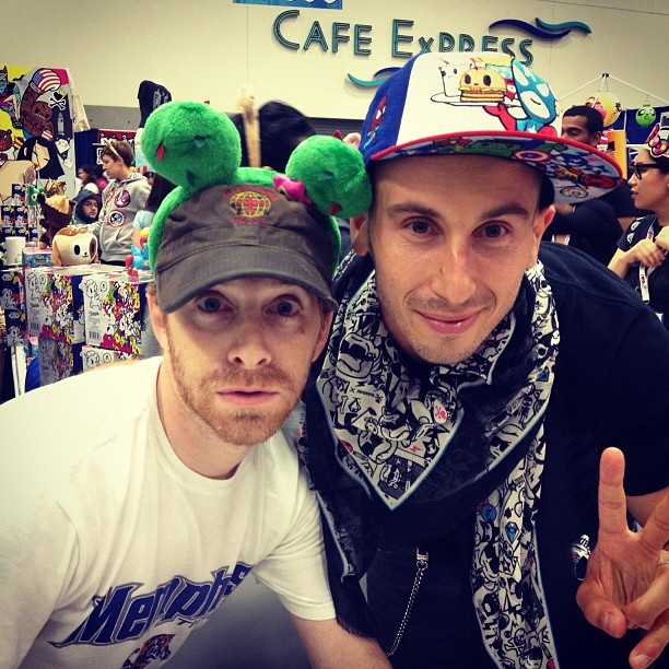 Seth Green and Simone Legno at the Stoopid Monkey signing at tokidoki booth