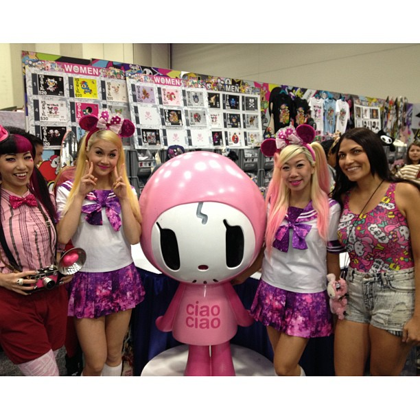Fun getting a visit from our friends at JapanLA at the booth!