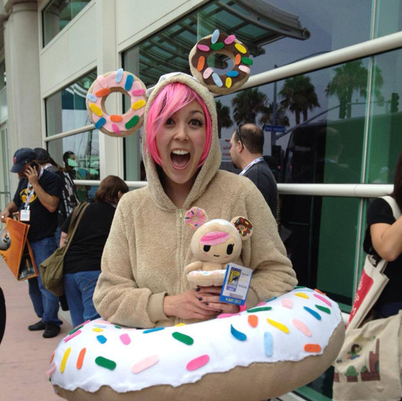Elizabeth's DIY Donutella Cosplay at tokidoki SDCC 2013