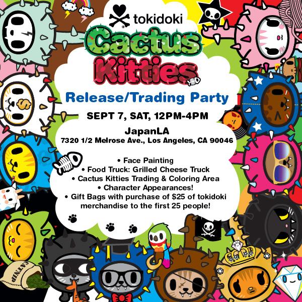 tokidoki Cactus Kitties Event at JapanLA