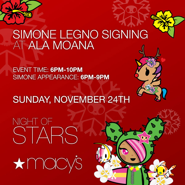 Simone Legno Signing at Macy's Ala Mona Sunday, November 24, 2013