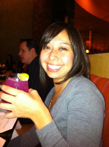 Helen gets her drink on at CES 2012.