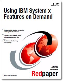 Cover of the paper Using IBm System x Features on Demand