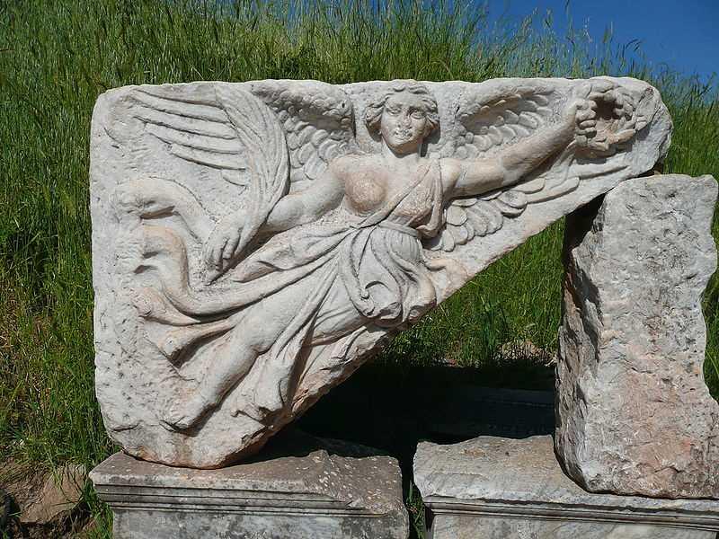 http://en.wikipedia.org/wiki/File:Goddess_Nike_at_Ephesus,_Turkey.JPG