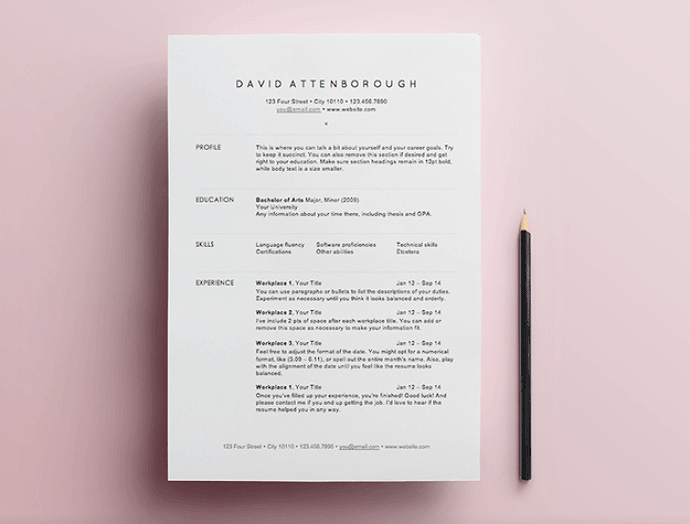 Bloglovin when it comes to resumes i strongly believe the presentation is just as important as the content a structured easily read and clean template are maxwellsz