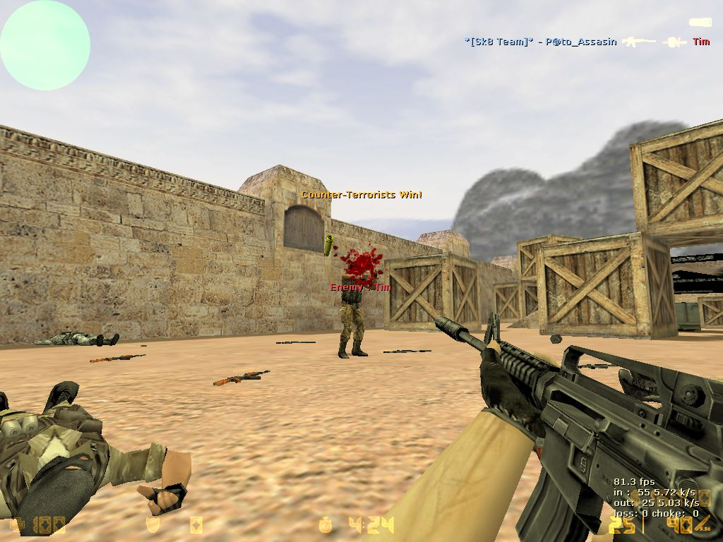 Even the greatest counter-strike players can't make that headshot 100 percent of the time.  Unless they're aim-botting.