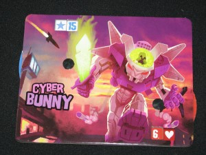 "The Cyber Bunny from Richard Garfield's board game ""King of Tokyo"". Prismata doesn't have one of these... yet."