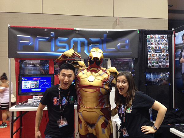 Rachel and Will with Iron Man