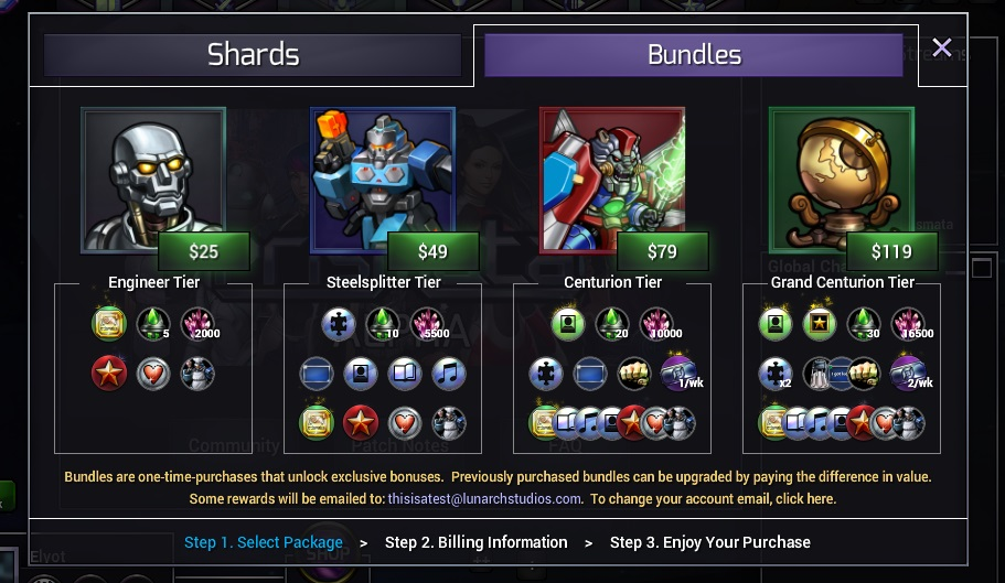 Bundles will be arriving in the in-game Prismata store, finally!