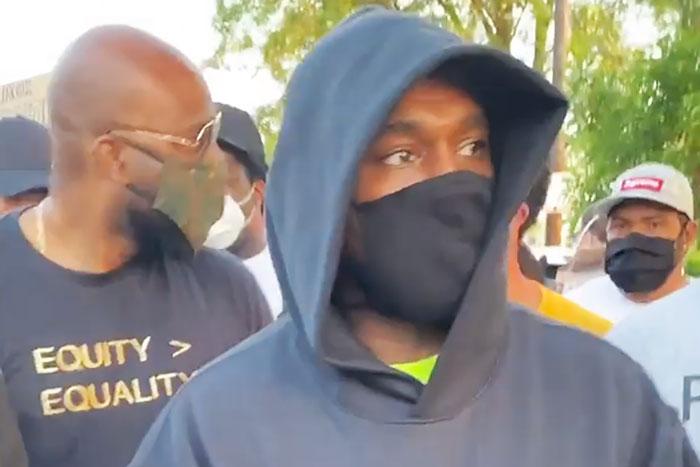 Kanye West Joins Chicago Protest for George Floyd