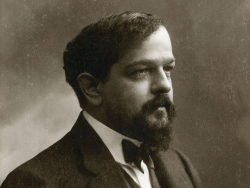 Debussy em 1908. Foto de Nadar