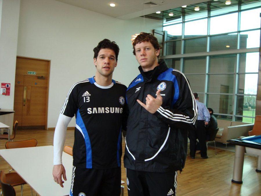 Michael Ballack e Ricardo Prasel. Foto: Chelsea FC