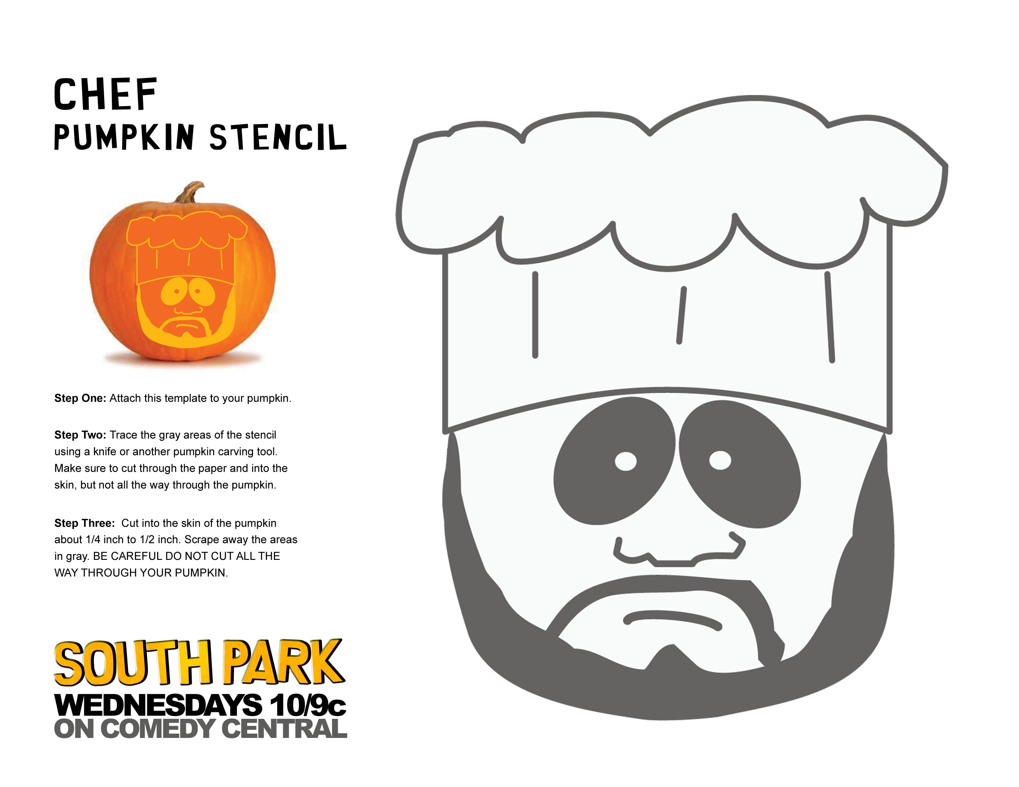 Chef Pumpkin01 Garrison Terrance Phillip Jimmy Stan Towelie CartmanAuthoritah