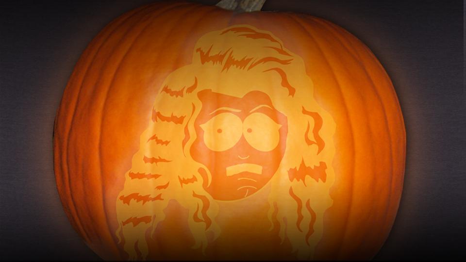 "Randy as ""Lorde"" Halloween Pumpkin Stencil"