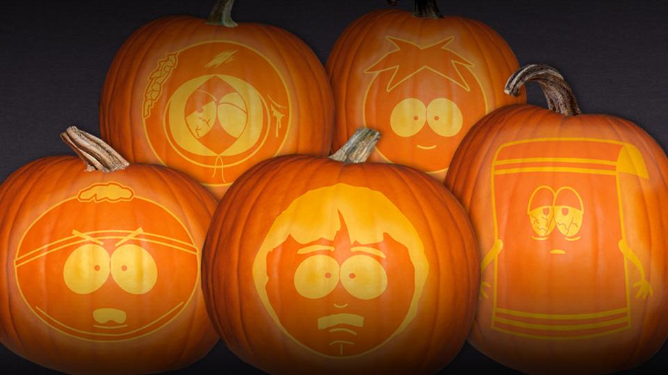 """""""South Park"""" Halloween Pumpkin Stencils"""