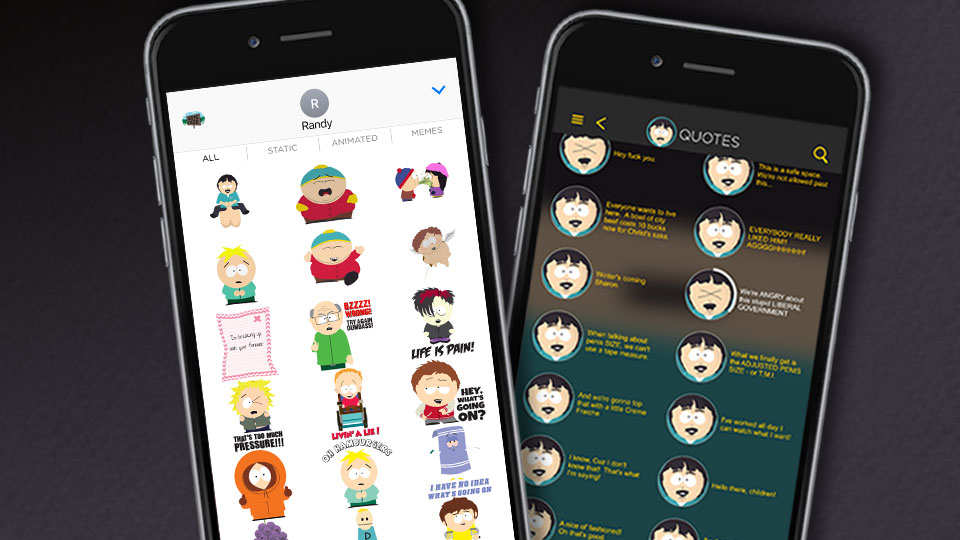 Stickers now in the South Park app!