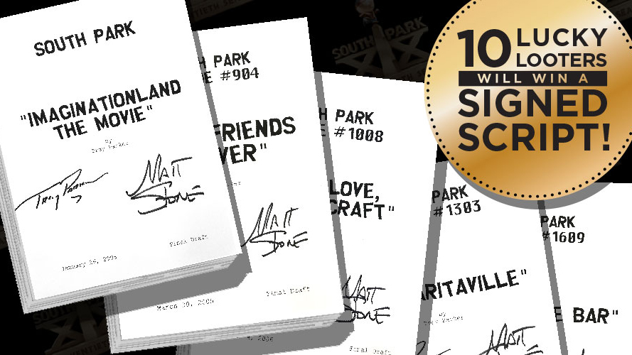 Win a Signed South Park Script!
