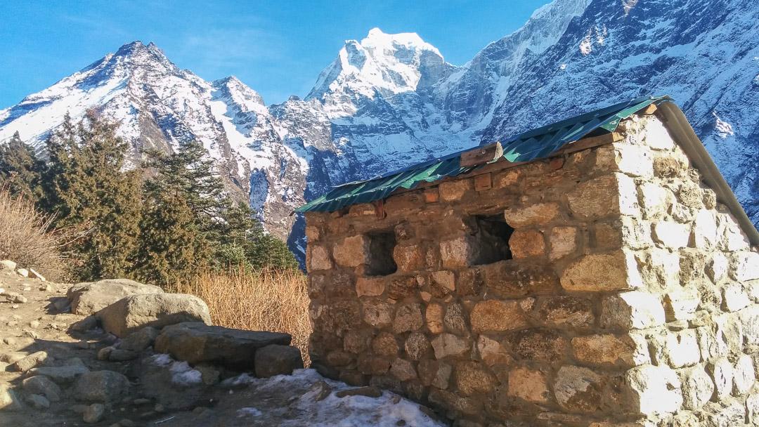 Trash Collection Bin along the Everest Base Camp Trek