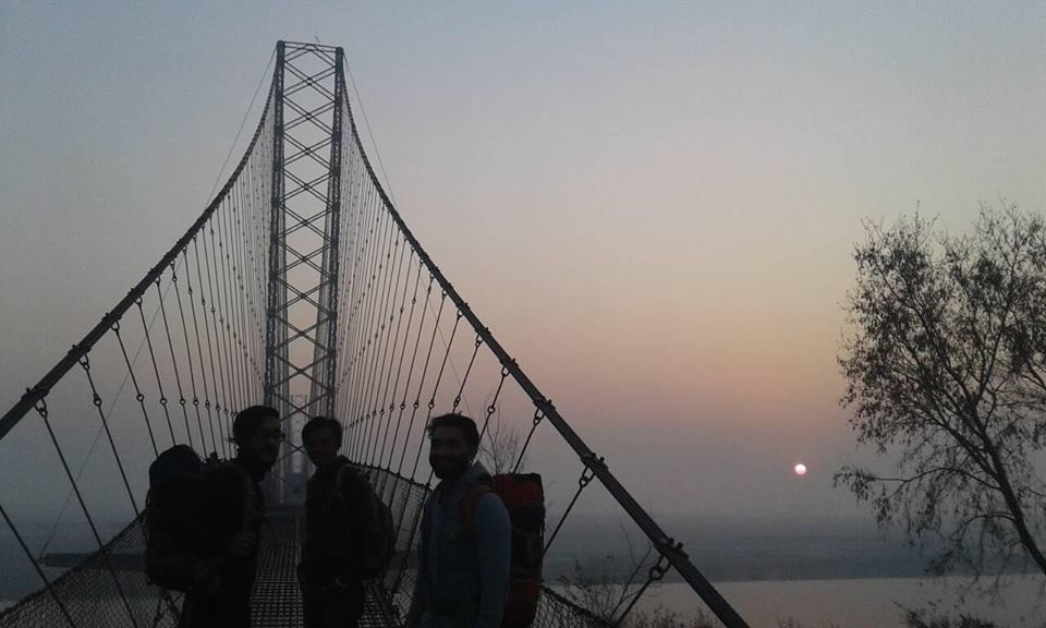 The first picture to mark the start of a life changing journey of Abhay's life, Dodhara-Chadani Bridge, Kanchanpur!