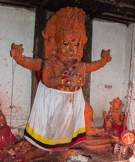 The statue of Unmatta Bhairava