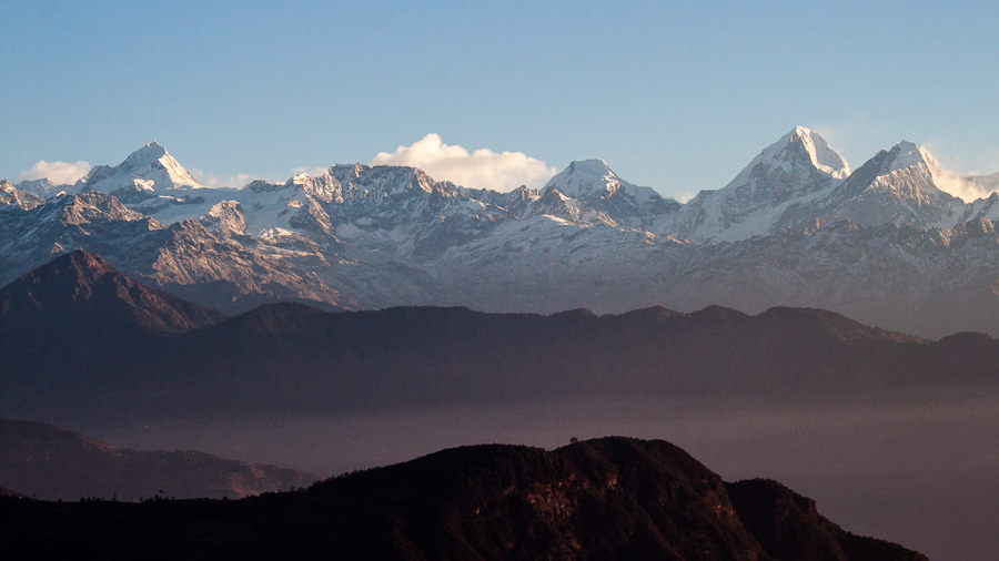 Dorje Lhakpa Mountain from Chisapani