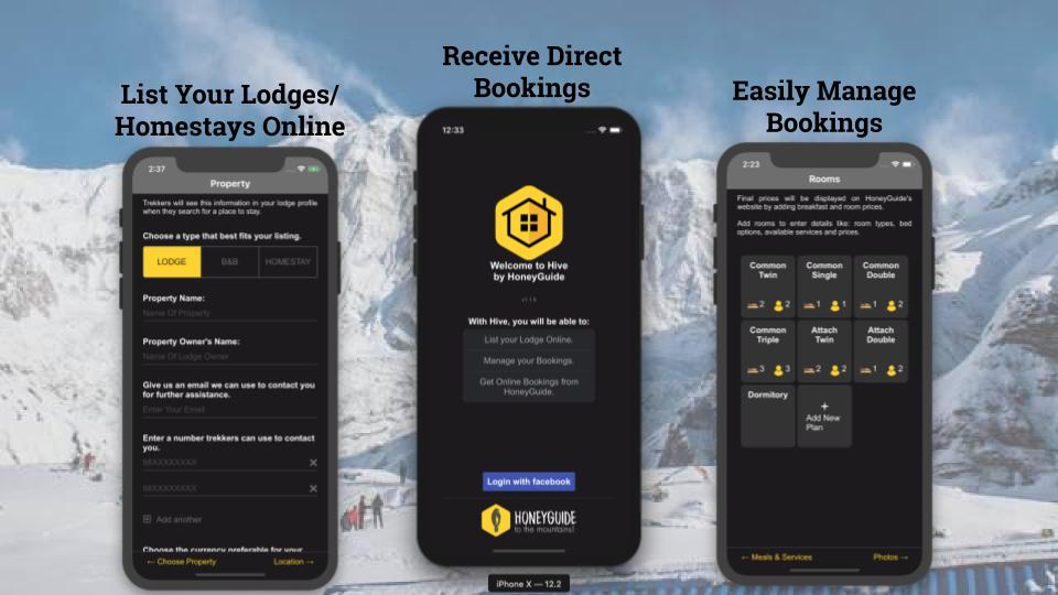 'HIVE' Property Management App designed for the mountains